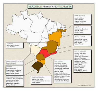 brazilians home state map