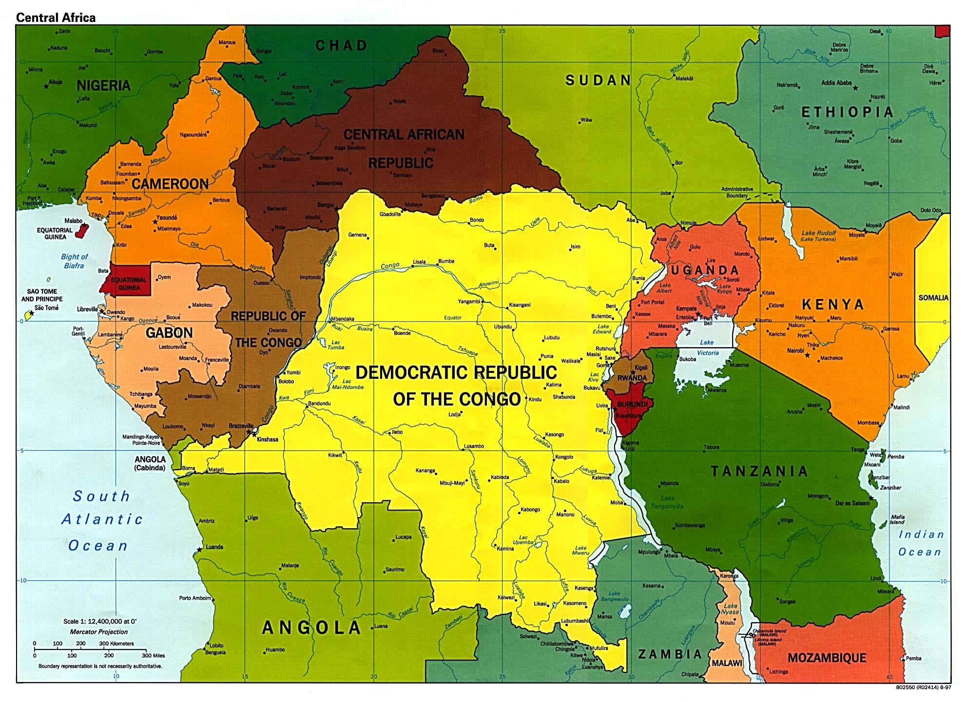 central-africa-map | Scissors Kick