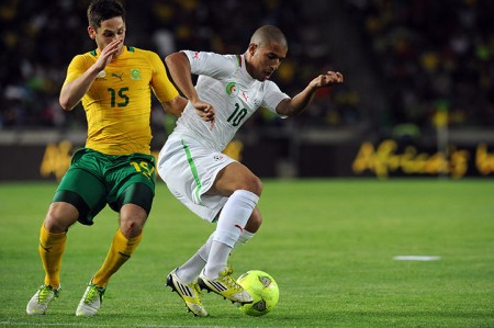Algeria's Sofiane Feghouli and South Africa's Dean Furman