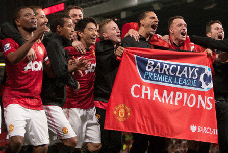 Kagawa joins celebrations as Man Utd clinch league title