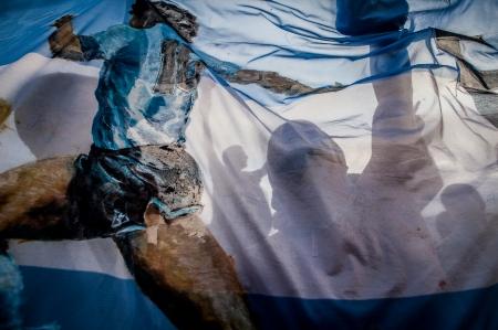 Argentina Soccer Fans in Copacabana