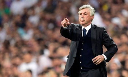 (FILES) This file photo taken on May 13, 2015 shows then Real Madrid's Italian coach Carlo Ancelotti gesturing during the UEFA Champions League semi-final second leg football match Real Madrid FC vs Juventus at the Santiago Bernabeu stadium in Madrid. As Spanish sports newspaper Marca and Spanish broadcast Cadena Cope reported on December 17, 2015, Italian former head coach of Real Madrid Carlo Ancelotti will follow Pep Guardiola as head coach of German bundesliga football club FC Bayern Munich. / AFP / GERARD JULIENGERARD JULIEN/AFP/Getty Images