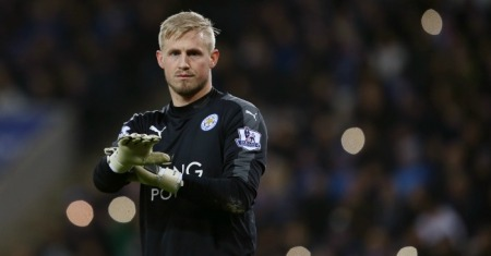 during the Barclays Premier League match between Leicester City and Stoke City at The King Power Stadium on January 23, 2016 in Leicester, England.